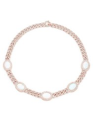 Adriana Orsini Lorie Opal Chainlink Necklace Pink
