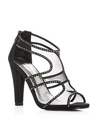 Caparros Desire Rhinestone Embellished High Heel Sandals Black