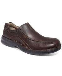 Clarks Pickett Slip On Shoes Men's Shoes Brown Oily Leather