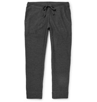 Club Monaco Tapered Ribbed Merino Wool Sweatpants Gray