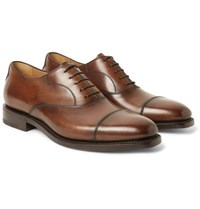 Berluti Roccia Polished Leather Oxford Shoes Brown