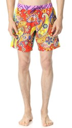 Moschino Pattern Mix Swim Trunks Multi