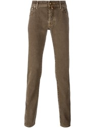 Jacob Cohen Slim Fit Jeans Yellow And Orange