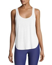 Lanston Scoop Muscle Performance Tank White
