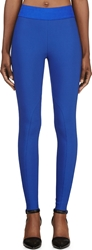 Stella Mccartney Cobalt Blue Cotton Stretch Heather Leggings