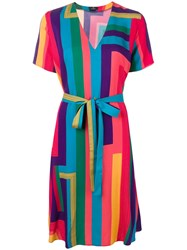 Paul Smith Ps Rainbow Stripe Shirt Dress Blue