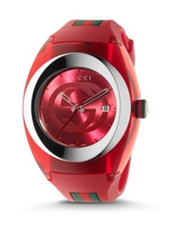 Gucci Sync Stainless Steel Watch Red Blue