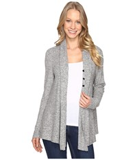 B Collection By Bobeau Betie Cardigan Heather Grey Women's Sweater Gray
