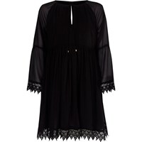 River Island Black Kimono Sleeve Smock Dress