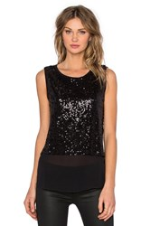 Generation Love Yuri Sequin Tank Black