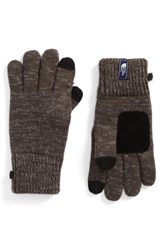 The North Face Etip Salty Dog Knit Tech Gloves Graphite Grey Mid Grey Marl