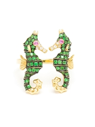 Yvonne Leon Seahorse Ring Green