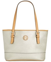Giani Bernini Saffiano Tote Created For Macy's Silver