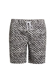 Onia Charles 7 Swim Shorts Black White