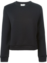 Moncler Beaded Elbow Patch Sweater Black