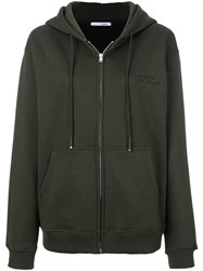 Alyx Zip Up Hoodie Cotton Polyester L Green