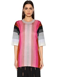 Marco De Vincenzo Oversized Lurex Knit Top