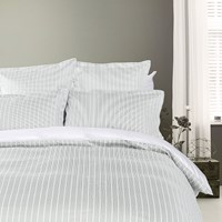 Tommy Hilfiger Sateen Stripe Duvet Cover Grey Double