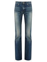Saint Laurent Mid Rise Bootcut Jeans Denim