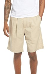 The Rail Pleated Chino Shorts Beige Sonora