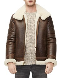 Ugg Auden Shearling Lined Aviator Jacket Brown