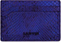 Lanvin Blue Python Card Holder