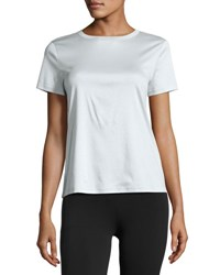Helmut Lang Short Sleeve Jersey Tie Back Tee Light Teal