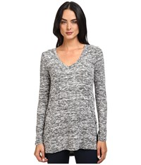 Splendid Silver Mountain Jersey Tunic Black Women's Blouse