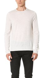 Vince Featherweight Crew Sweater H. White