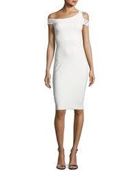 La Petite Robe Di Chiara Boni Vlada Studded Jersey Cocktail Dress White