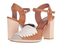 Derek Lam Sasha Tan Soft Calf Hemp Twill Women's Shoes White