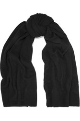 The Elder Statesman Super Blanket Cashmere Scarf Black
