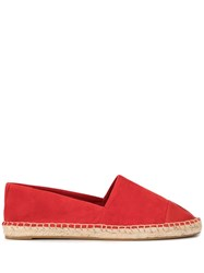 Tory Burch Colour Block Espadrilles Red