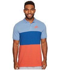 Nike Matchup Color Block Polo Work Blue Industrial Blue Track Red Men's Clothing Multi