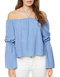 Buffalo David Bitton Textured Off The Shoulder Top