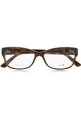 Gucci Square Frame Tortoiseshell Acetate Optical Glasses