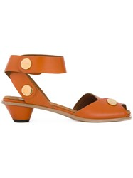 Stella Mccartney Snap Fastened Sandals Brown