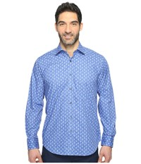 Bugatchi Long Sleeve Classic Fit Point Collar Shirt Sky Men's Long Sleeve Button Up Blue