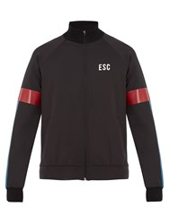 Every Second Counts Track Logo Print Performance Jacket Black Multi