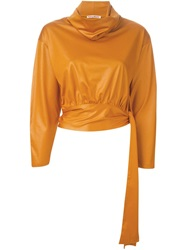 Issey Miyake Vintage Roll Neck Sweater Yellow And Orange