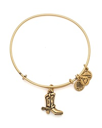 Alex And Ani Cowboy Boot Expandable Wire Bangle Charity By Design Collection Rafaelian Gold