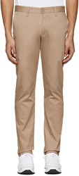 Naked And Famous Denim Beige Slim Chino Trousers