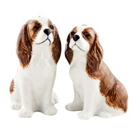 Quail Ceramics Cavalier King Charles Spaniel Salt And Pepper Shakers Bleinham