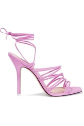 Attico Leather Sandals Baby Pink