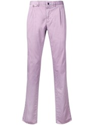 Incotex Tailored Trousers Pink Purple