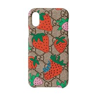 Gucci Iphone X Xs Case With Strawberry Pink