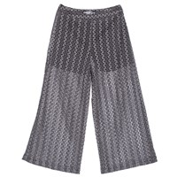 Ardent And Co Stretchy Full Length A Line Jacquard Lace Trousers Grey