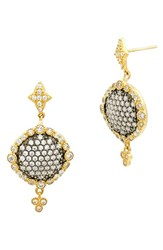 Freida Rothman Women's Disc Drop Earrings