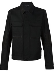 Alexandre Plokhov Buttoned Denim Jacket Black