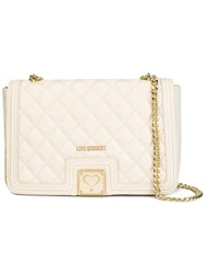 Love Moschino Chain Strap Shoulder Bag Nude Neutrals